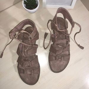 BRAND NEW Suede Strap Up Sandals!